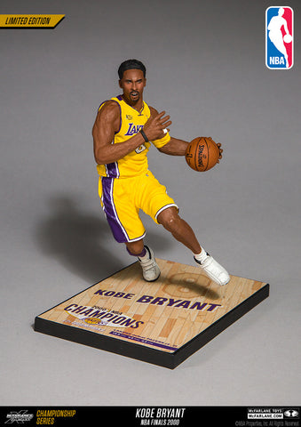 McFarlane Toys NBA Kobe Bryant Limited Edition Championship Series - NBA Finals 2000 (Home yellow #8 jersey)