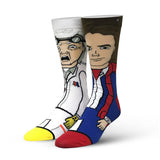 Odd Sox Back to the Future Doc and Marty 360 Socks