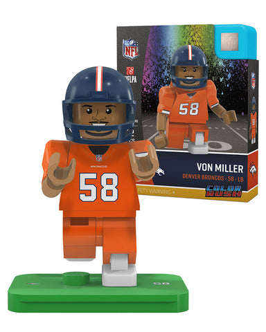 NFL Denver Broncos Von Miller Color Rush Mini Figure