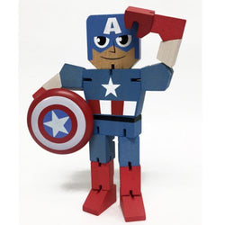 Marvel Wood Warriors Captain America Action Figure