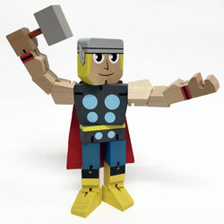 Marvel Wood Warriors Thor Action Figure