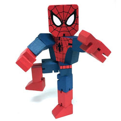 Marvel Wood Warriors Spider-Man Action Figure