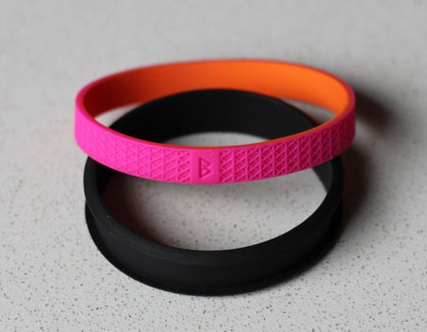 Bohnd Bracelets - Black, Pink and Orange