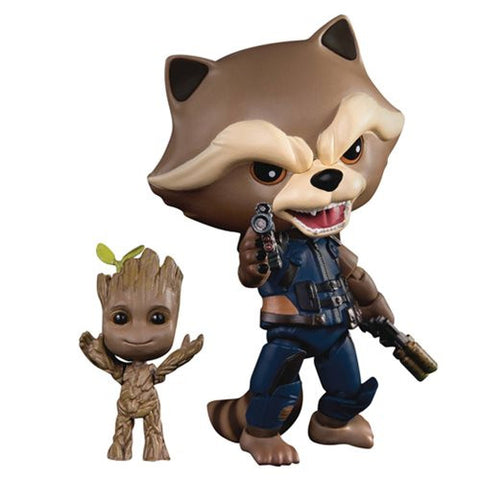 Beast Kingdom Guardians of the Galaxy Vol.2 Rocket with Baby Groot Egg Attack Action Figure
