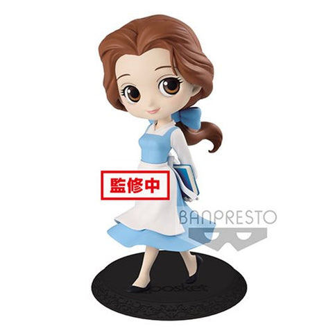 Disney Beauty and the Beast Village Belle Pastel Version Q Posket Statue