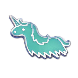 100% Soft Unicorn Ghost Glow in the Dark Pin