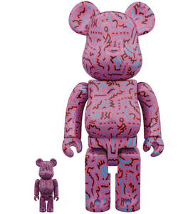 Bearbrick Keith Haring #2 100% and 400% Figure 2-Pack