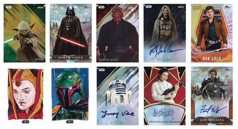 2018 Topps Finest Star Wars Trading Cards (Hobby)