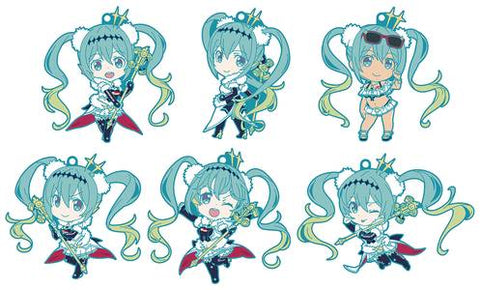 Racing Miku 2018 Nendoroid Plus Rubber Keychain - Blind Box