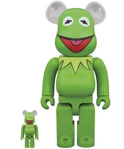 Bearbrick Muppets Kermit The Frog 100% and 400% Vinyl Figures