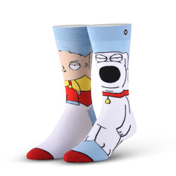 Odd Sox Family Guy Stewie and Brian Socks