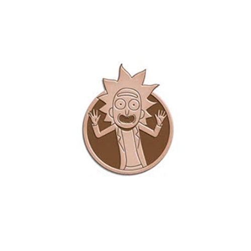 Rick and Morty Tiny Rick Tiny Rick Brass Lapel Pin