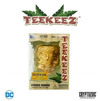 Cryptozoic Entertainment DC Teekeez Golden Idol Wonder Woman Vinyl Figure