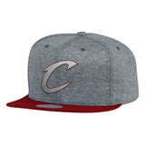 Mitchell & Ness NBA Cleveland Cavaliers Fleece Clear Script Snapback Hat