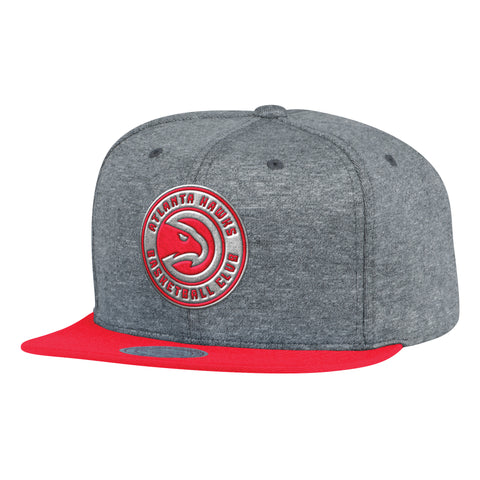 info for ef8d2 b0029 Mitchell   Ness NBA Atlanta Hawks Fleece Clear Script Snapback Hat