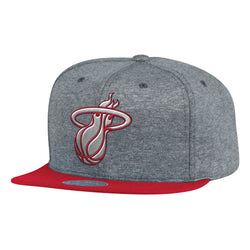 Mitchell & Ness NBA Miami Heat Fleece Clear Script Snapback Hat