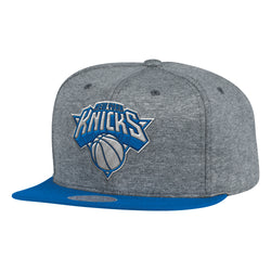 Mitchell & Ness NBA New York Knicks Fleece Clear Script Snapback Hat