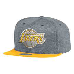 Mitchell & Ness NBA Los Angeles Lakers Fleece Clear Script Snapback Hat