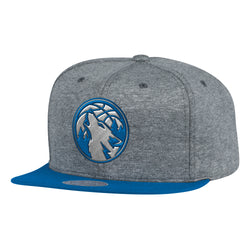 Mitchell & Ness NBA Minnesota Timberwolves Fleece Clear Script Snapback