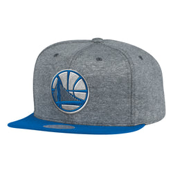 Mitchell & Ness NBA Golden State Warriors Fleece Clear Script Snapback Hat