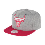 Mitchell & Ness NBA Chicago Bulls Fleece Clear Snapback Hat