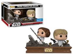Funko Pop Star Wars Movie Moments Trash Compactor Escape (Princess Leia and Luke Skywalker)