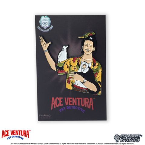Ace Ventura Pet Detective Animal Lover Pin