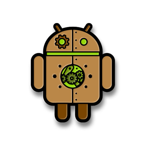 Android Copperbot Pin