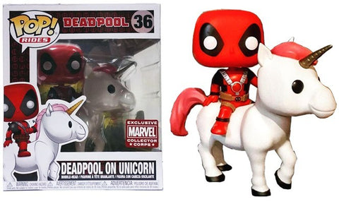 Funko Pop Rides Marvel Deadpool on Unicorn