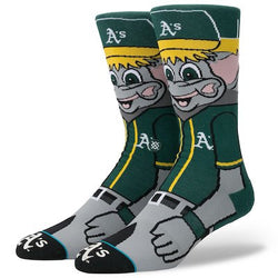 Stance MLB Oakland Athletics Mascot Crew Socks