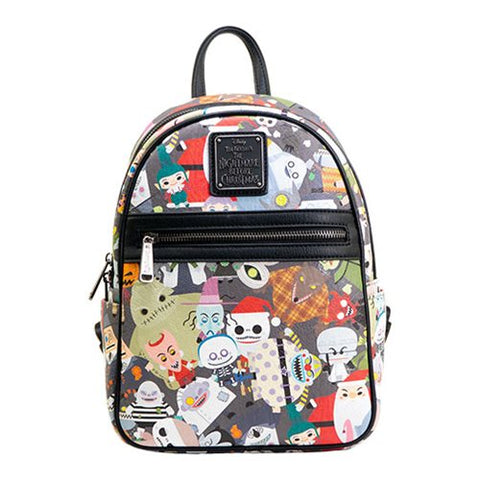 ceaee2f7c31 Loungefly The Nightmare Before Christmas Chibi Print Mini Backpack ...