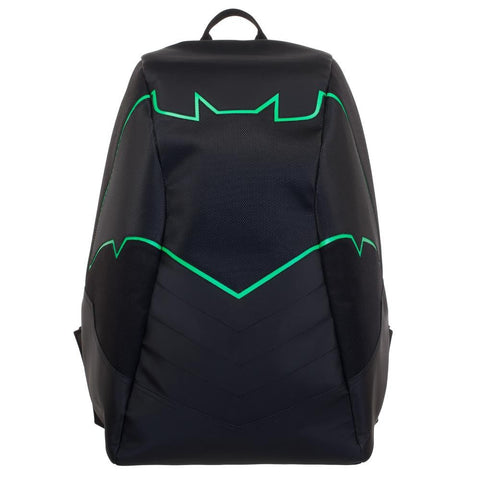 DC Universe Batman Green EL Lighted 3 Panel Powered Backpack