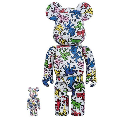 Bearbrick Keith Haring 100% and 400% Pattern Set Figures