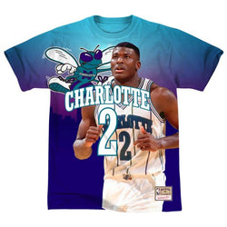 Mitchell & Ness NBA Charlotte Hornets City Pride Tee - Larry Johnson