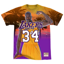 658da84bd Mitchell   Ness NBA Los Angeles Lakers City Pride Tee - Shaquille O Neal
