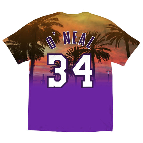 b3a74800d93 ... Mitchell   Ness NBA Los Angeles Lakers City Pride Tee - Shaquille O Neal