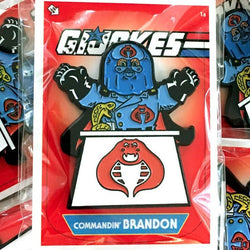 G.I. Jokes Commandin' Brandon Enamel Pin