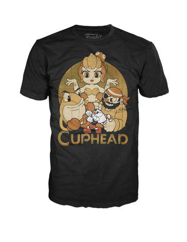 Funko Pop Tees Cuphead and Bosses Black Pop! T-Shirt