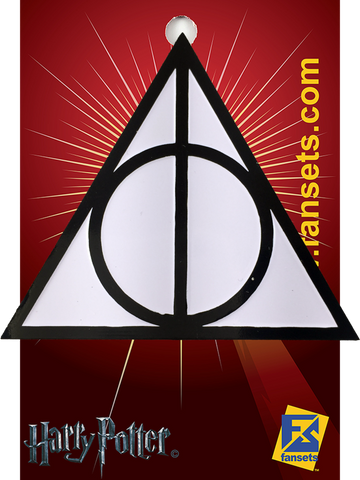 Fansets Harry Potter Deathly Hallows Symbol Enamel Pin Nerdy