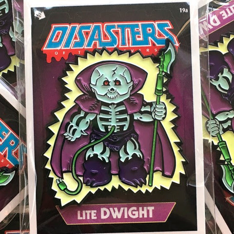 Disasters of the Universe Lite Dwight Enamel Pin