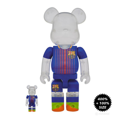 Bearbrick FC Barcelona 100% and 400% 2-Pack Figure