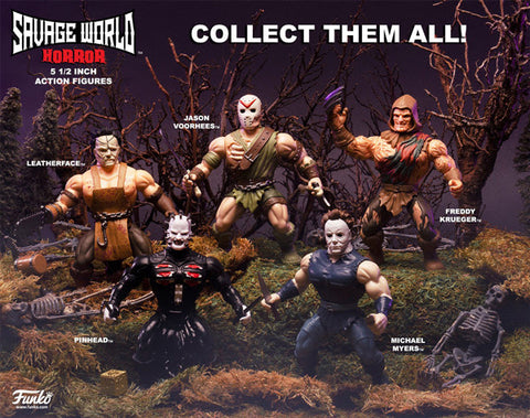 Funko Savage World Horror Action Figure Set of 5