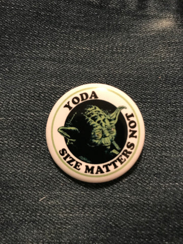 Star Wars Yoda Size Matters Button
