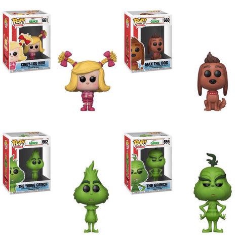 Funko Pop Movies The Grinch Movie Set of 4
