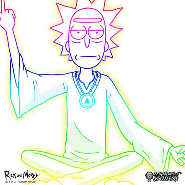 Rick and Morty Spiritual Leader Rick White Tee