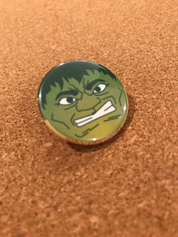 Marvel The Hulk Pin Back Button