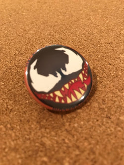 Marvel Venom Pin Back Button