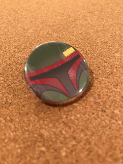 Star Wars Boba Fett Pin Back Button