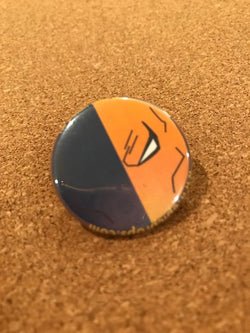 DC Deathstroke Pin Back Button
