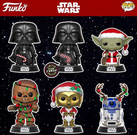 Funko Pop Star Wars Holiday Set of 6 with Chase